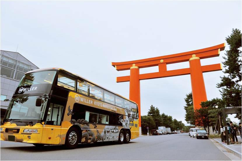 京都市が掲げる「京の食文化を楽しむ観光の推進」に貢献するため始めた京都のレストランバス