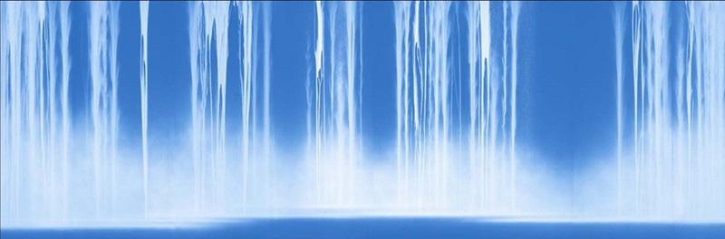 「千住 博 & チームラボ コラボレーション展『水』」より、千住博《The Fall》2018年