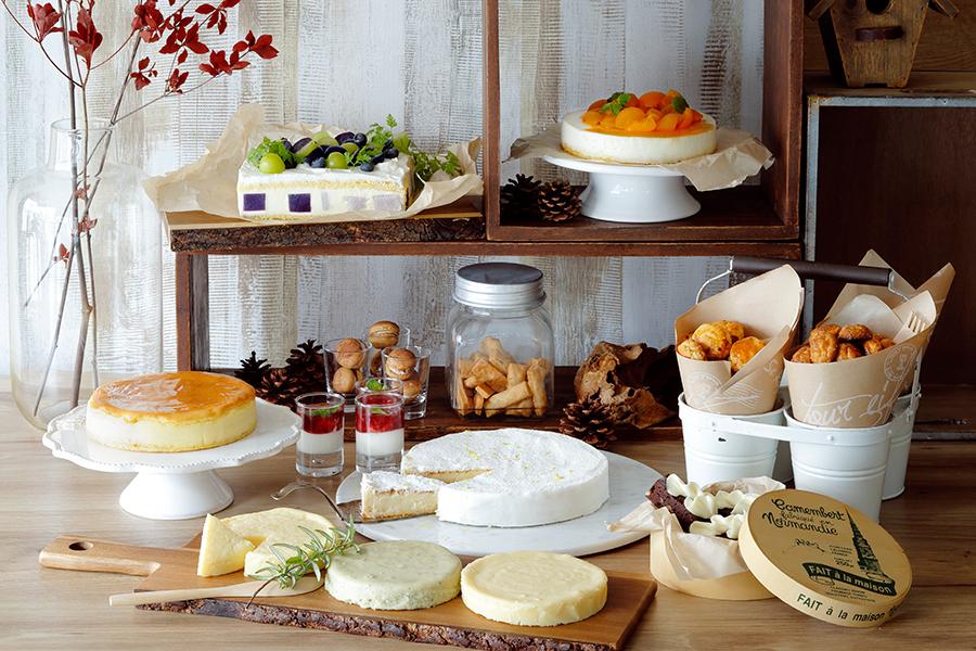 6種類のチーズを使用したメニューがそろう