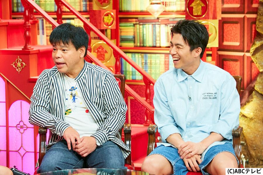 明石家さんまの企画・プロデュースでジミー大西の半生を描いたドラマ『Jimmy~アホみたいなホンマの話~』で、ジミー役を演じた中尾明慶(右)