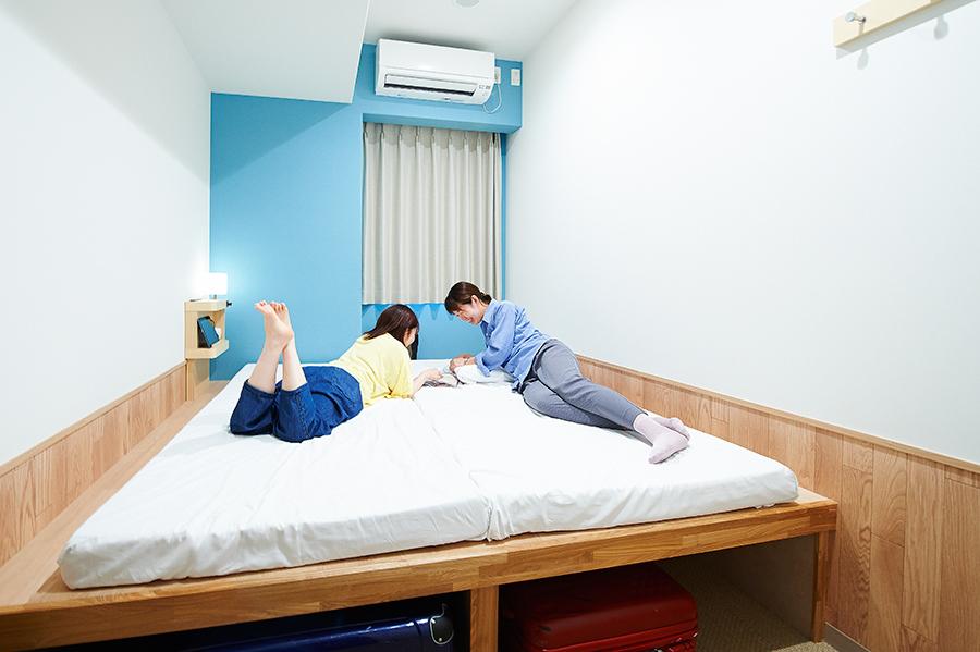 ツインは、横並びのものや、二段ベッドのタイプも