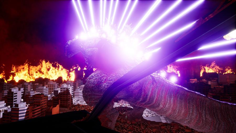 『ゴジラVR』のイメージ TM&©TOHO CO., LTD. ©BANDAI NAMCO Amusement Inc.