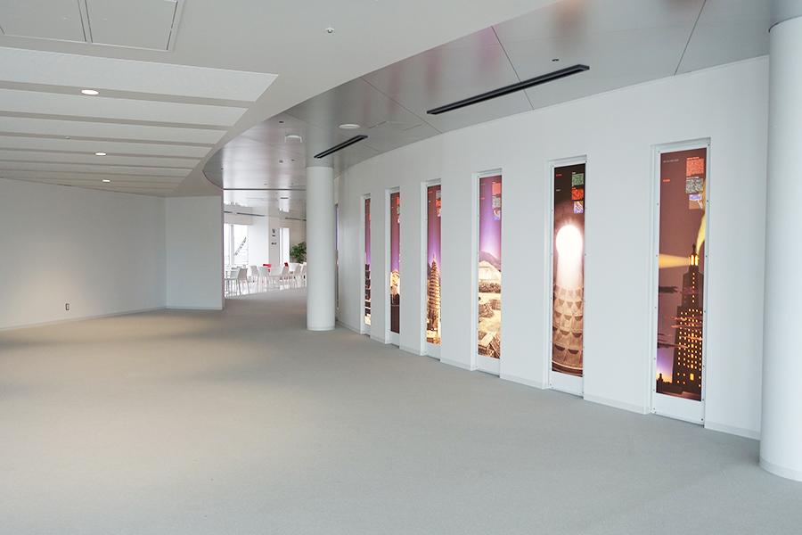 スカイビルの発送の原点となった建築物について、空との関連性なども展示。こちらはもともとあったものだが、今回のリニューアルを機に作りなおしたそう