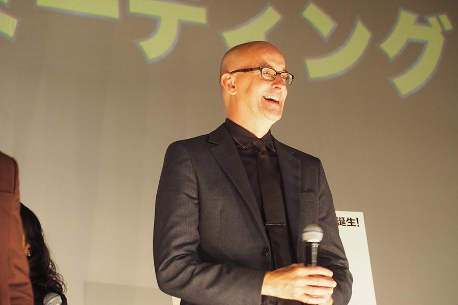 笑顔でファンミーティングに登場したペイトン・リード監督(23日・大阪市内)
