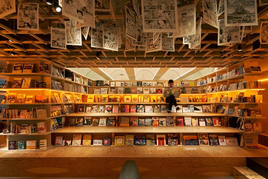 撮りたくなるようなフォトジェニックな空間。写真は新宿店内観 (C)BOOK AND BED TOKYO 2018