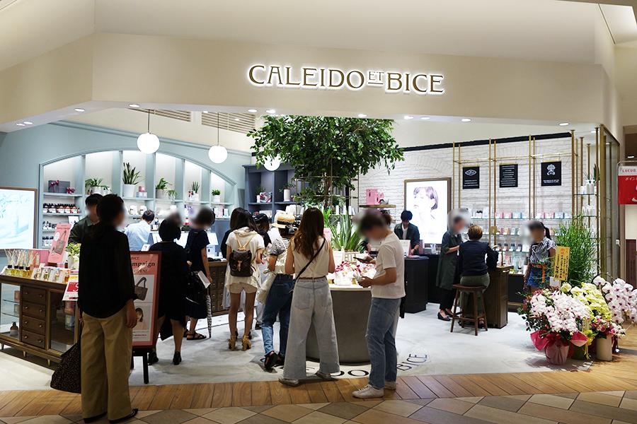 「カレイドエビーチェ」では、南イタリアのアロエベラを使った新アイテムや、フレグランス、メイク用品などがそろう