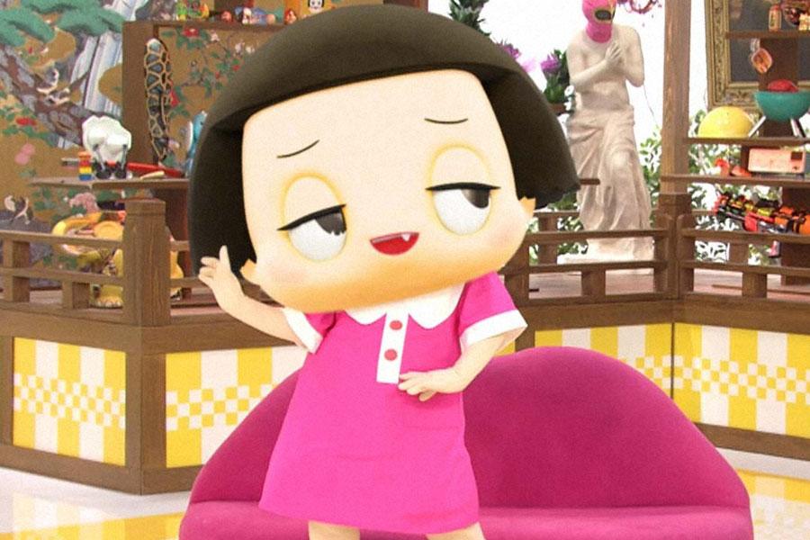 見た目はかわいいけど、言うことはかわいげがないチコちゃん。声を担当するのはなんとタレントの木村祐一だ
