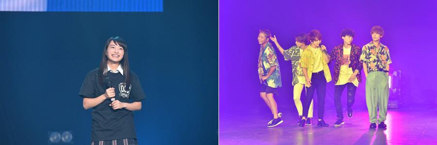 日本一かわいい女子高生の「めいめい」こと福田愛依(左)と、男性5人組ダンス&ボーカルグループ・Da-iCE