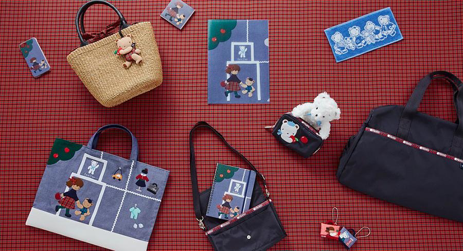神戸本店限定のカゴバッグ19440円、シリアルナンバーのデニムバッグ27000円、レスポのウォレットショルダー12960円