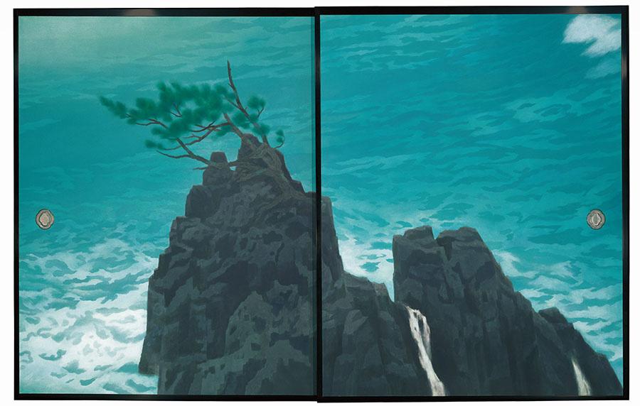 唐招提寺御影堂障壁画のうち、《濤声》(部分) 1975年、東山魁夷、唐招提寺蔵