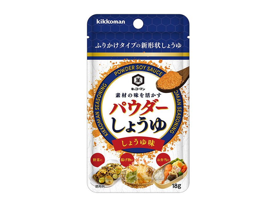 キッコーマン パウダーしょうゆ しょうゆ味 18gパウチ220円(税別)
