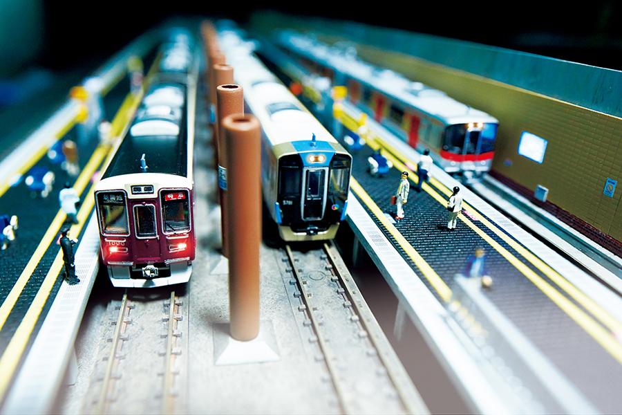 阪急、阪神、山陽電車が乗り入れる高速神戸駅のジオラマを展示