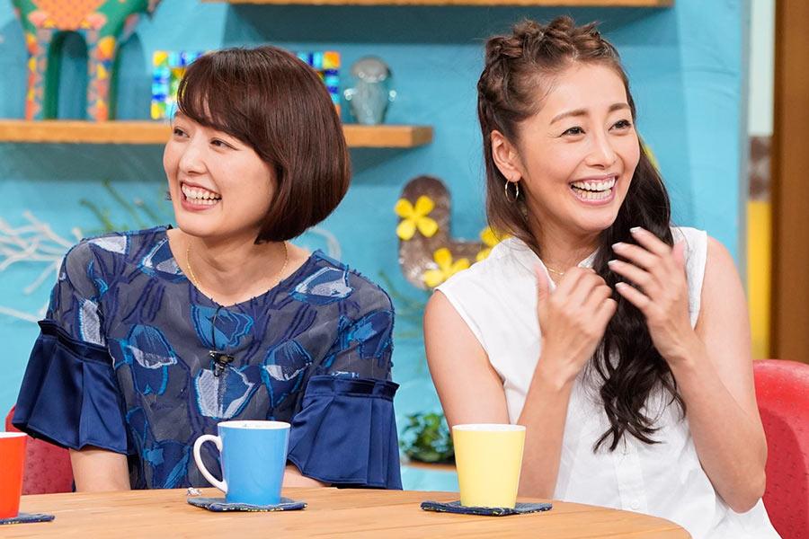 ゲストの中村仁美(左)と熊切あさ美