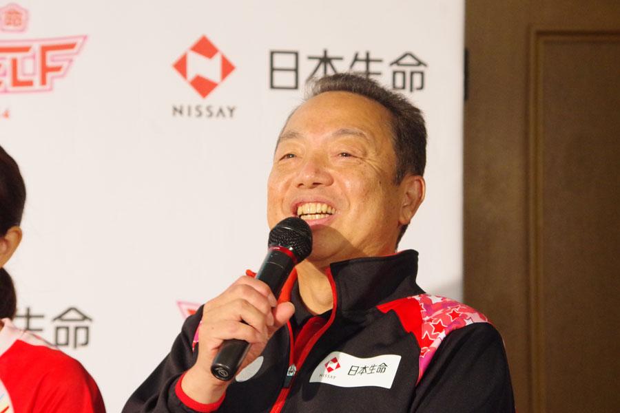 「5〜6年前の構想からやっと。日本生命が先頭に立って引っ張っていって、長く続くリーグにしていきたい」と村上監督