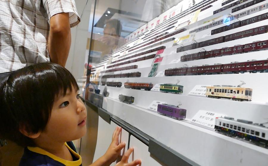 子どもたちもときめく、鉄道模型のショーケース