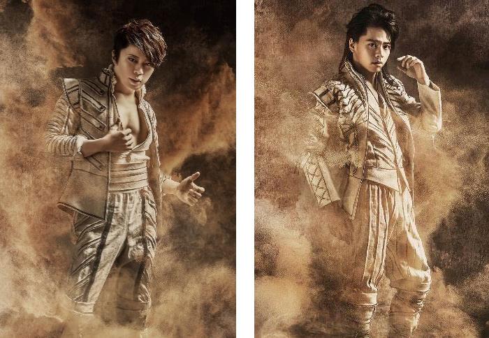 T.M.Revolutionの活動をはじめ歌唱力には定評のある西川貴教(左)と、シンガーソングライターとしてデビューを飾った後、ミュージカル俳優として確固たる地位を築いた中川晃教