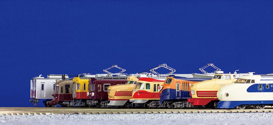 昭和(写真)と平成の鉄道を見比べることができるコーナーも