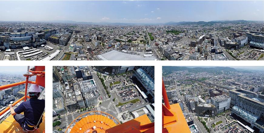VR装置で楽しめる、120.9mからの景色