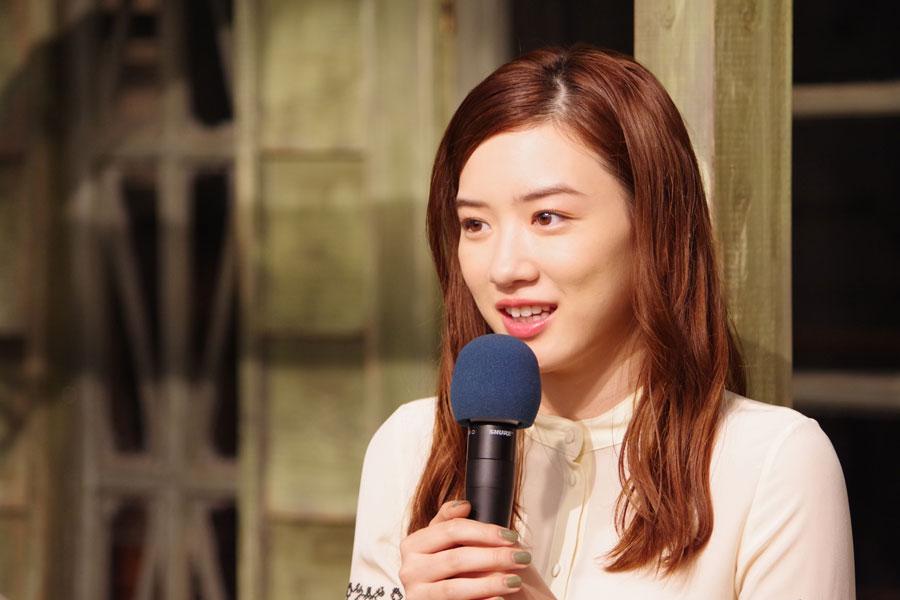 『まんぷく』へのバトンタッチセレモニーにて。放送は残り8回。「『半分、青い。』をやってよかった」と話す永野芽郁(2018年9月20日・大阪市内)