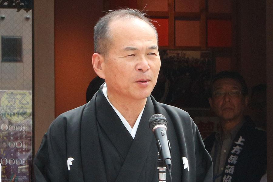 前会長・桂文枝に引き継ぎ、7代目の会長となった笑福亭仁智