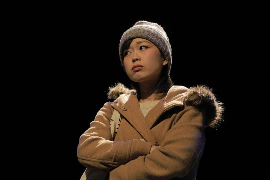舞台『源八橋西詰』より、俳優部門に選ばれた丹下真寿美 写真/堀川高志