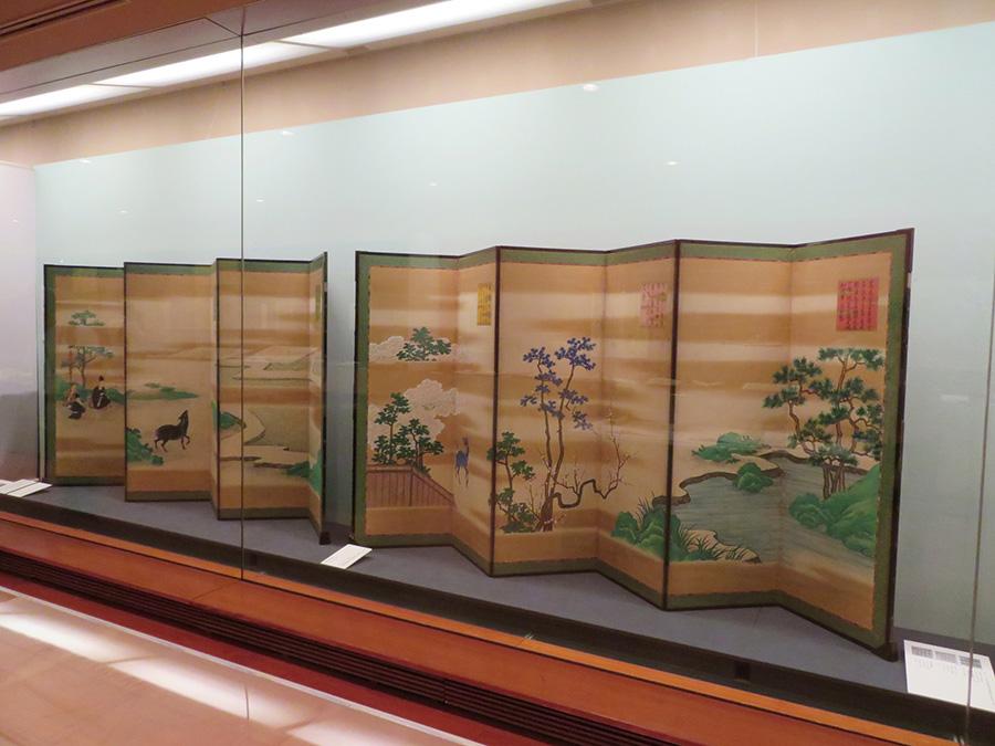 天明七年度大嘗会本文御屏風(部分) 天明7年(1787) 京都国立博物館 ※細見美術館で展示