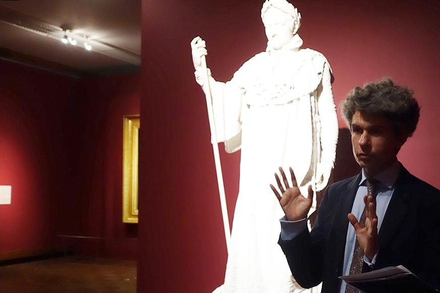 リュドヴィック・ロジエさんとクロード・ラメの《戴冠式の正装のナポレオン1世》
