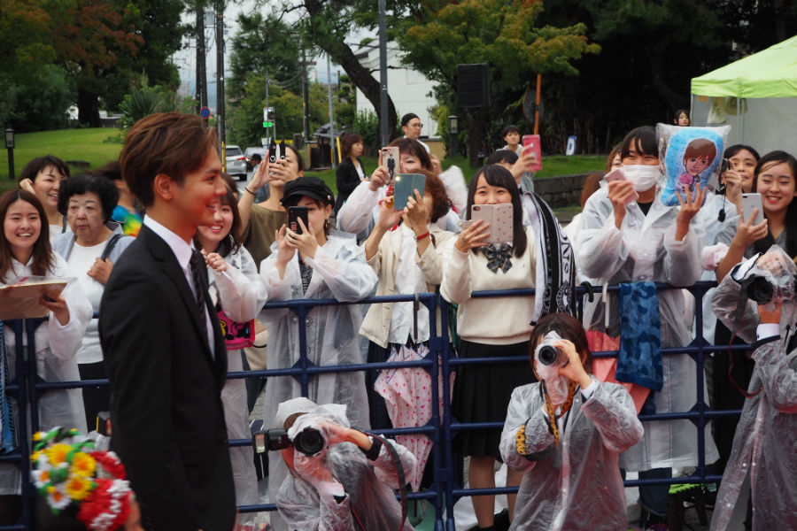 『なら国際映画祭』のサポーターをつとめるGENERATIONS from EXILE TRIBEの片寄涼太(20日・奈良市内)