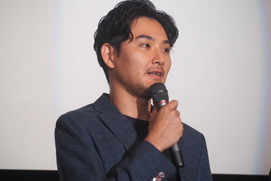 主演映画『泣き虫しょったんの奇跡』の舞台挨拶に登壇した俳優・松田龍平(9日・大阪市内)