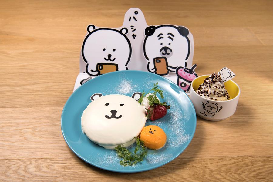 自分ツッコミくまパンケーキーパシャッと撮影、パウっとチョコソースホイップクリームー(マグネット付1590円)