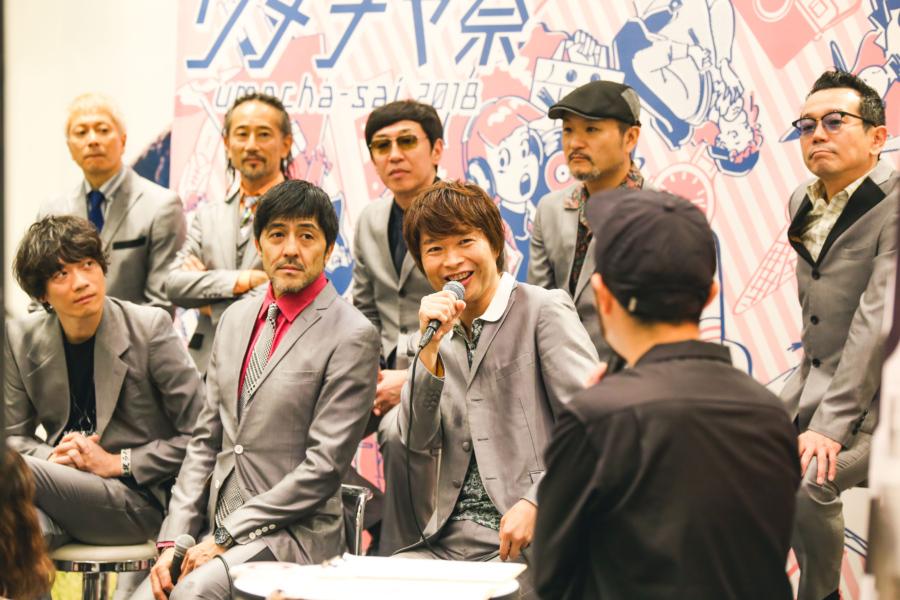FM802『BEAT EXPO』の公開収録に登場した東京スカパラダイスオーケストラ(27日、NU茶屋町)
