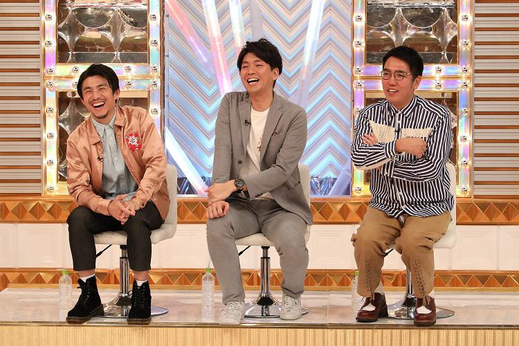 男性ゲストの(左から)中尾明慶、宮崎謙介、小木博明