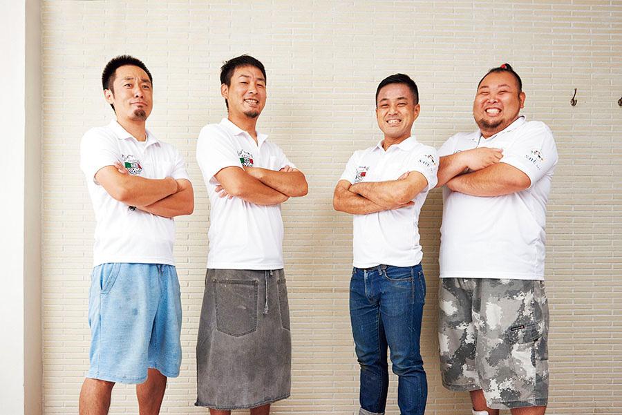 左から、中島啓雅さん、鎌田友毅さん、大野亮さん、東郷智宏さん
