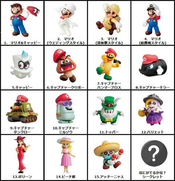 全16種のキャラクターたち