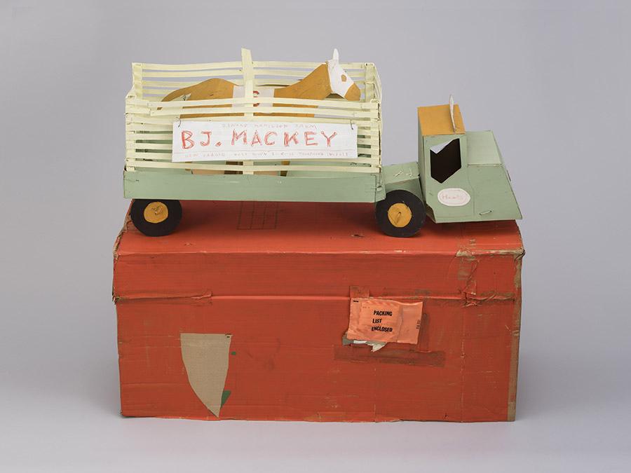 日比野克彦《BJ.MACKEY》1982年 岐阜県美術館蔵