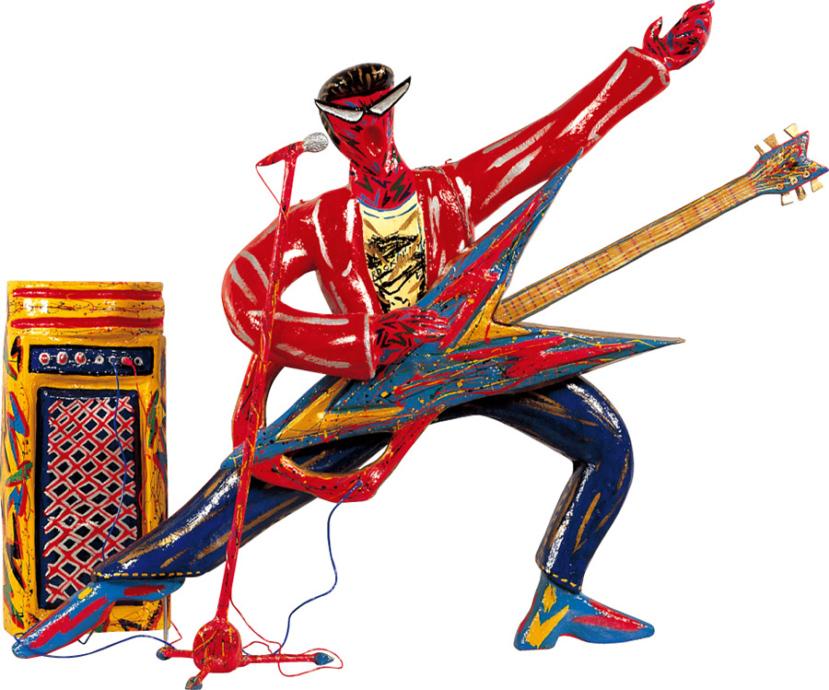 中西學《THE ROCKIN' BAND: The Guitar Man》1985年 作家蔵 撮影:寿福滋