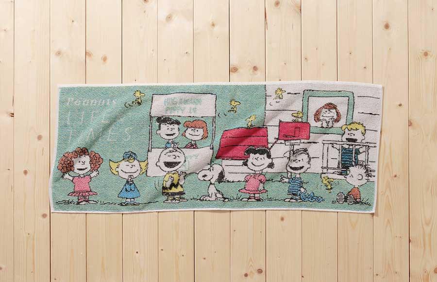 限定アートを使ったシリーズ作の一つ、「五彩織タオル」3024円(写真はイメージ)