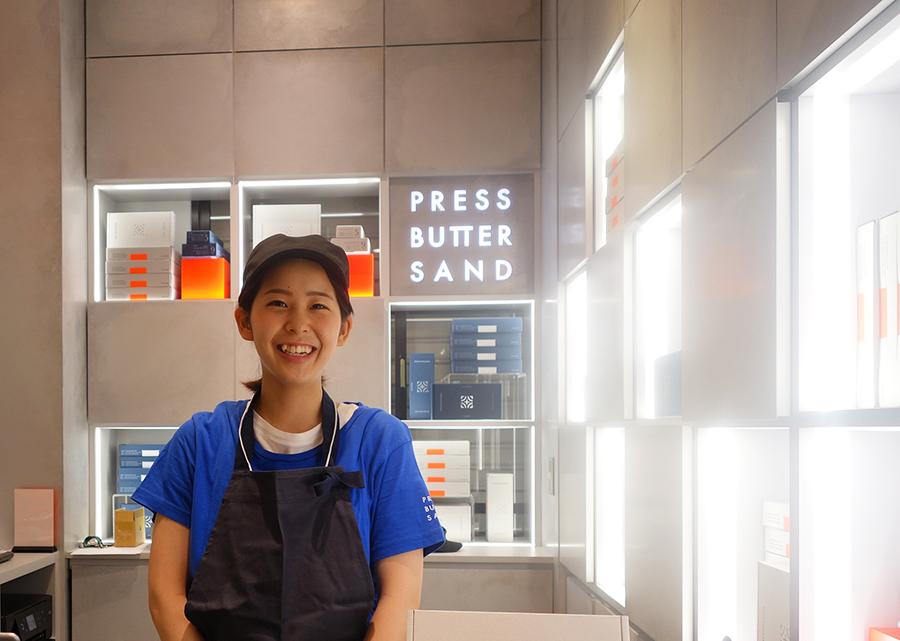 京都駅にオープンした関西1号店。プレスバターサンド2種のみを販売