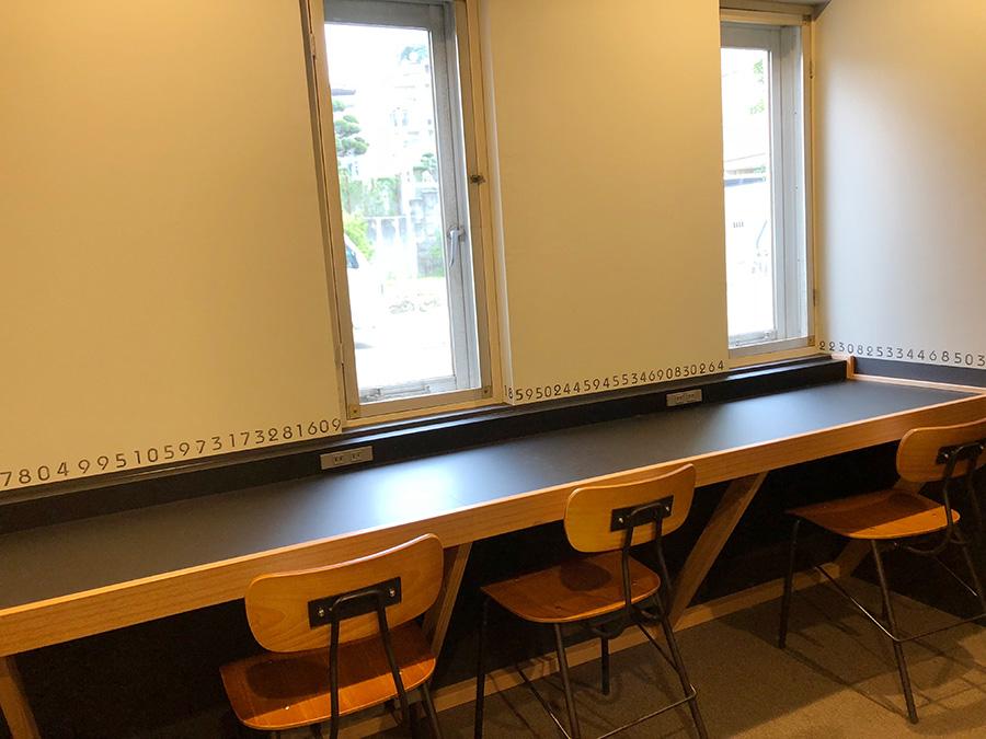 ワークルームには、ミーティングができるスペースもある