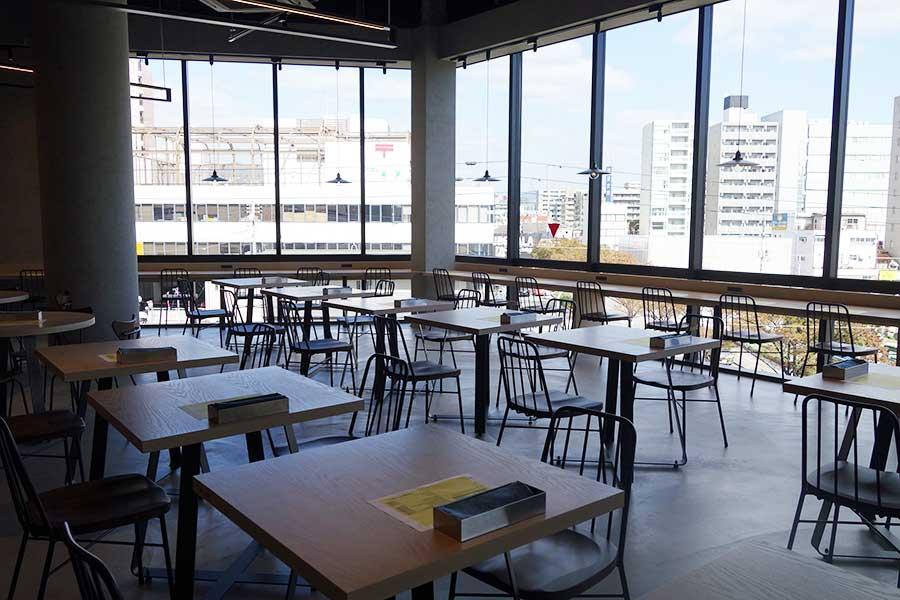 野菜創作レストラン「TIERRA LUZ VIENTO」。自然光がたっぷりふり注ぐ空間も魅力