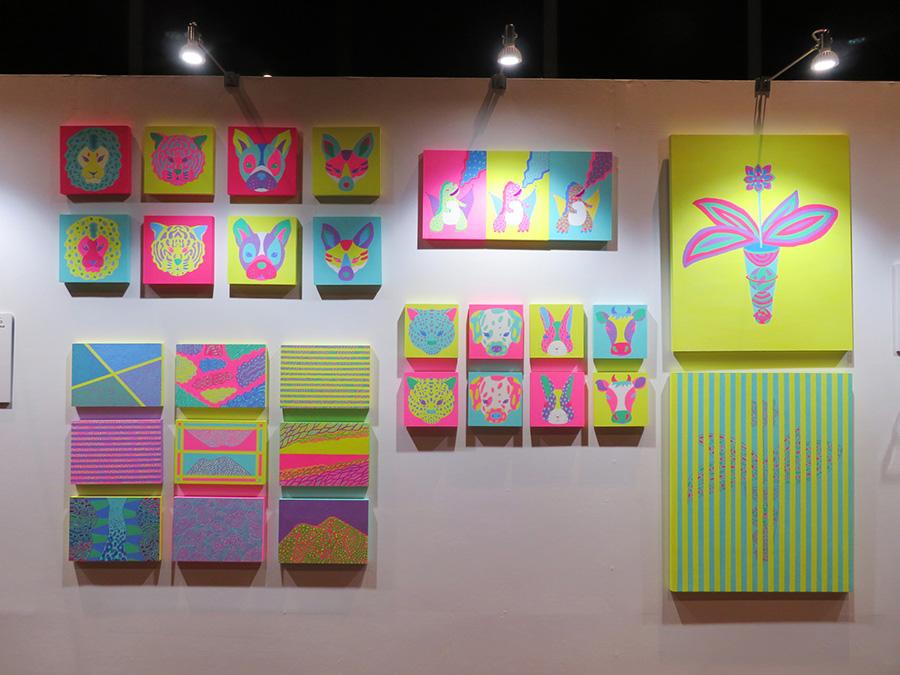 「中之島フェスティバルタワーウエスト」で展示されている、ユカイズハラの作品