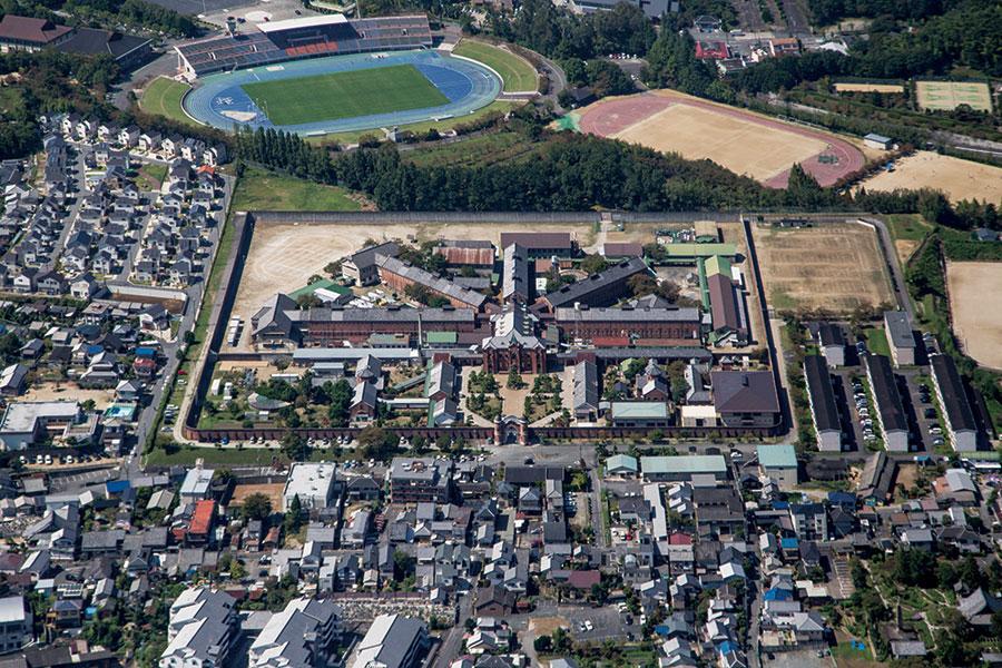 旧奈良監獄の施設全景