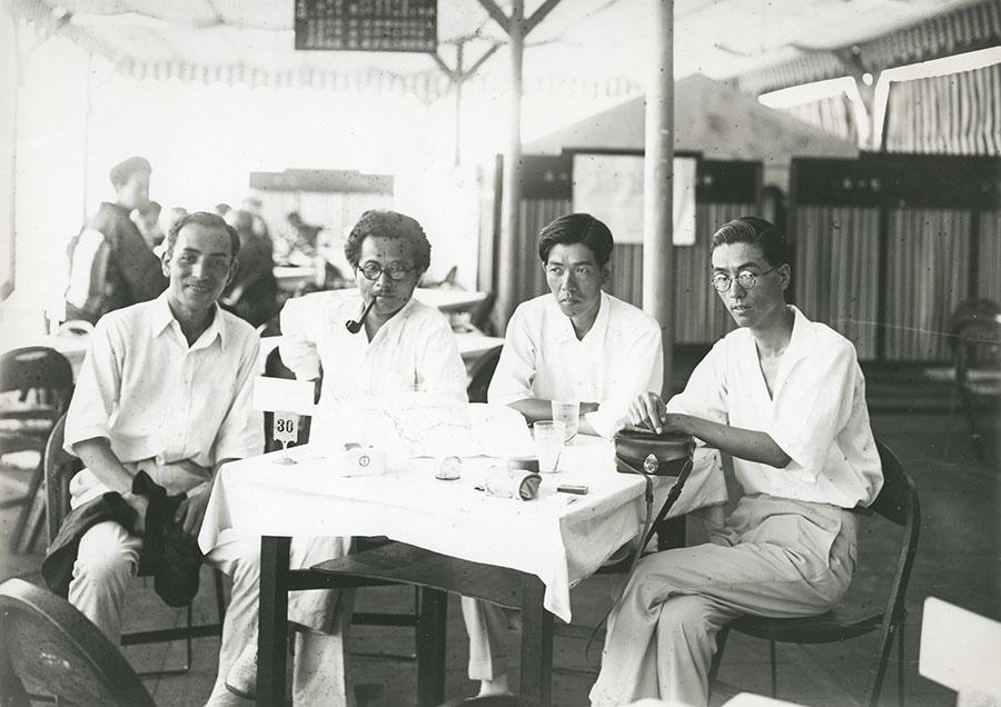 芦屋カメラクラブ 六甲山にて ハナヤ勘兵衛、中山岩太、紅谷吉之助、高麗清治 1930年