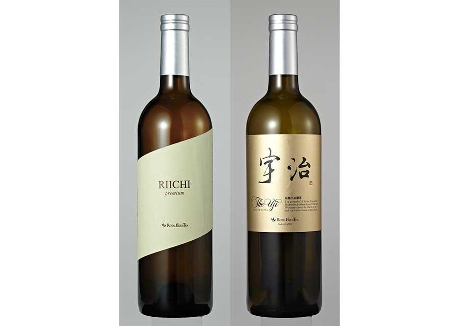 左からRIICHI16200円、京都宇治碾茶 The Uji6588円。共に桐箱付き