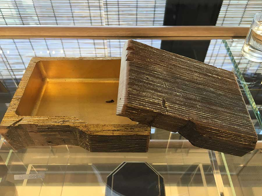 金閣寺の修復の際にでた古材を使った高野工芸製の木箱20万5000円
