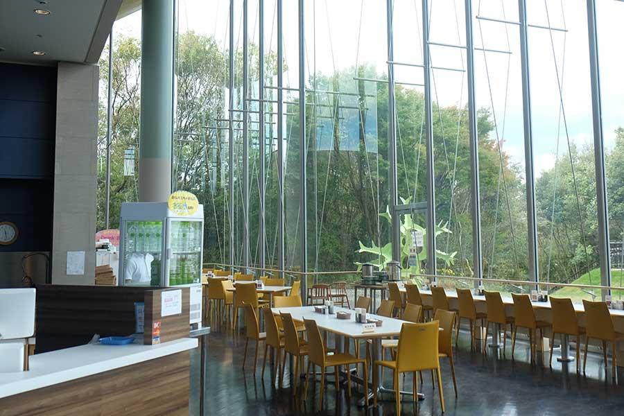 今年リニューアルしたミュージアムレストラン。滋賀県の食材を使ったメニューなども楽しめる