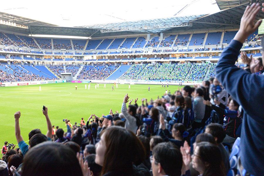 スタジアム内は反響もよく、サポーターの盛り上がりを文字通り「体感」できる