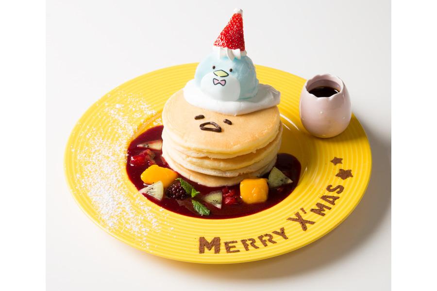 メリークリスマス♪タキシードサムとぐでたまのフルーツパンケーキ(1150円・税抜)