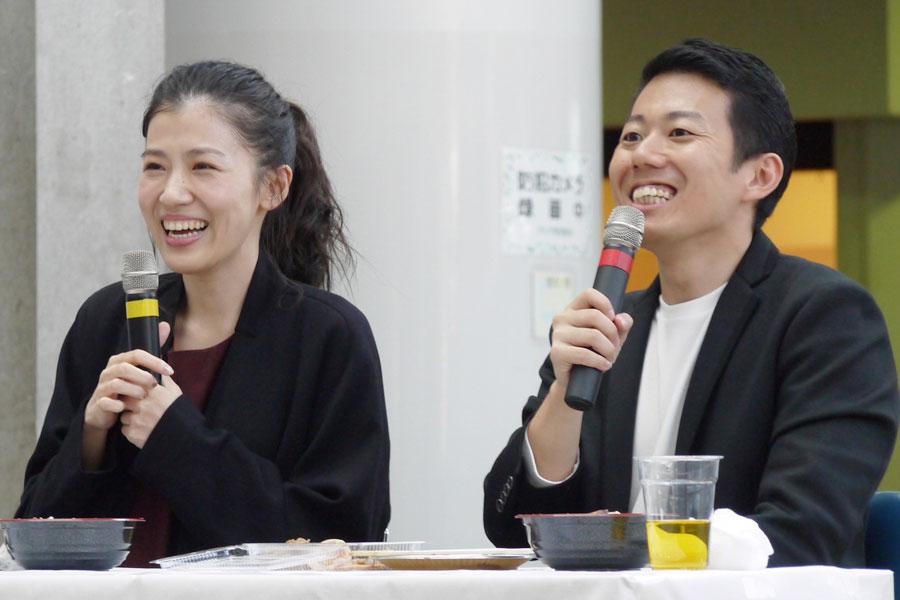 この日おこなわれた連続テレビ小説『まんぷく』のトークショーには、出演者の呉城久美と藤山扇治郎が登場した