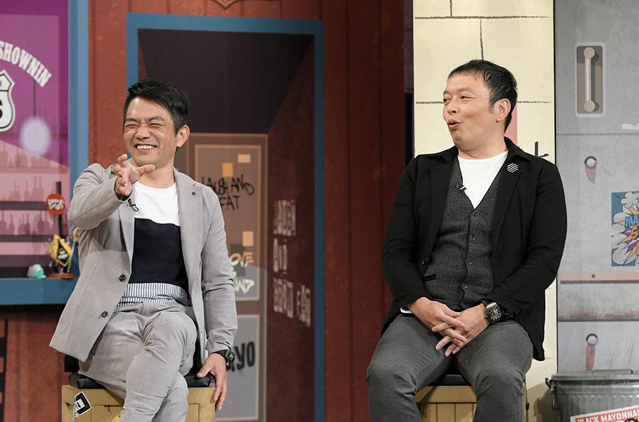 読売テレビ『マヨなか笑人』ゲストの中川家(剛、礼二) © ytv